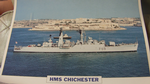 HMS Chichester  1955 Frigate warship framed picture (13)